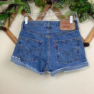 Levi's | 501 distressed denim shorts